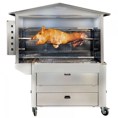 barbecue bois et cuisson à la broche ST1