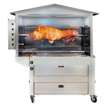 Tournebroche bois pour barbecue gaz ST2