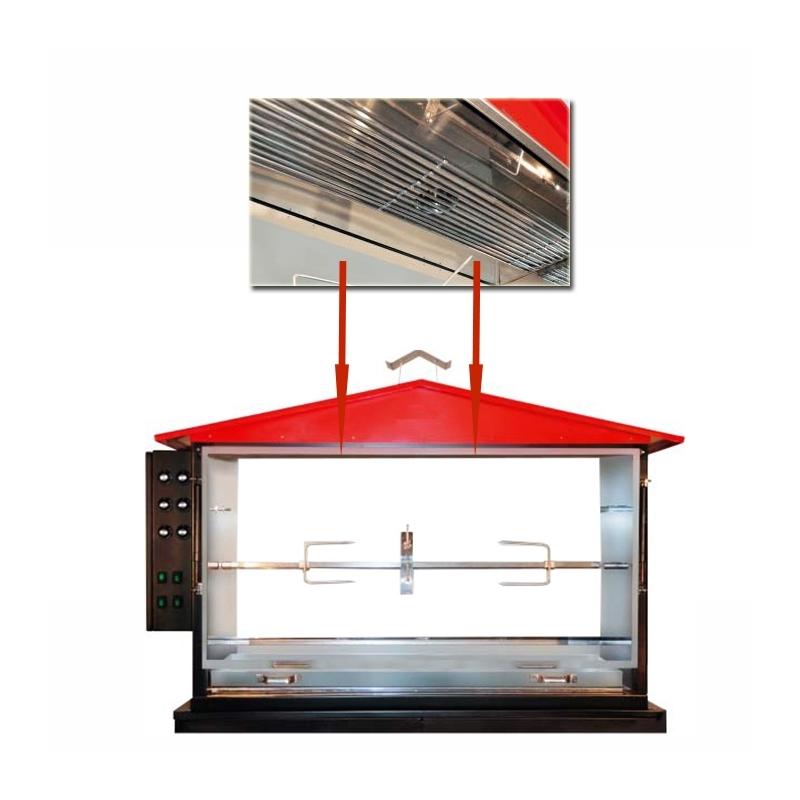 Braisi re lectrique pour station barbecue st2 - Tourne broche electrique pour barbecue ...